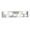 This item: Hollywood Brushed Nickel Nine-Light Wall Sconce