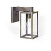 This item: Uptown Dark Brass Five-Inch One-Light Outdoor Wall Mount with Clear Seedy Glass