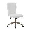 This item: Tiffany 26-Inch White Fur Chair