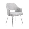 This item: Grey 25-Inch Linen Guest Chair