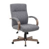 This item: Boss 30-Inch Grey Executive Conference Chair With Driftwood