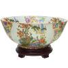 This item: Satsuma Birds and Flowers Multicolor Porcelain Bowl