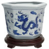 This item: Dragon Blue and White Porcelain Indoor Flower Pot