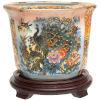 This item: Satsuma Peacock Multicolor Porcelain Indoor Flower Pot
