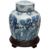 This item: Blue and White Ladies Porcelain Ginger Jar
