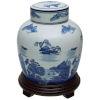 This item: Landscape Blue and White Porcelain Ginger Jar