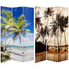 This item: Tall Double Sided Sunset Palms Multicolor Canvas Room Divider