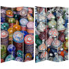 This item: Tall Double Sided Ceramic Bazaar Multicolor Canvas Room Divider