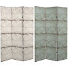 This item: Tall Double Sided Antiqued Paneling Beige Canvas Room Divider
