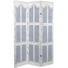 This item: Tall Double Sided Shutter White and Blue Canvas Room Divider
