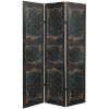 This item: Tall Double Sided Door Black Canvas Room Divider