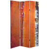 This item: Tall Double Sided Autumn Wood Orange and Red Canvas Room Divider