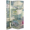 This item: Tall Double Sided Mineral Smoke Gray Canvas Room Divider