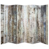 This item: Tall Double Sided Winter Wood Beige Canvas Room Divider
