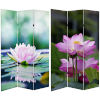 This item: Tall Double Sided Lotus Blossom Multicolor Canvas Room Divider