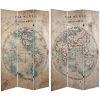 This item: Tall Double Sided Vintage Globe Beige Canvas Room Divider