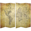 This item: Tall Double Sided Vintage World Map Yellow Canvas Room Divider