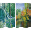 This item: Tall Double Sided Nature Embrace Multicolor Canvas Room Divider