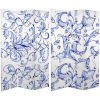 This item: Tall Double Sided Filigree Blue and White Canvas Room Divider