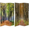This item: Tall Double Sided Autumn Footpath Multicolor Canvas Room Divider