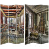 This item: Tall Double Sided Abandones Chamber Multicolor Canvas Room Divider