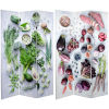 This item: Tall Double Sided Farmers Market Multicolor Canvas Room Divider