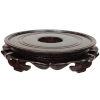 This item: Brown 9.5-Inch Rosewood Lotus Stand