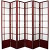 This item: Double Cross Seven Ft. Tall Shoji Screen - Rosewood Six Panel, Width - 102 Inches