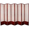 This item: Window Pane Seven Ft. Tall Shoji Screen - Rosewood Eight Panel, Width - 119 Inches