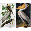 This item: 6-Foot Tall Double Sided Audubon Pelican Canvas Room Divider