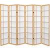 This item: 6 ft. Tall Canvas Double Cross Room Divider - Natural - 6 Panels