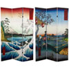 This item: 6 ft. Tall Double Sided Hiroshige Room Divider - Sea at Satta/Teahouse