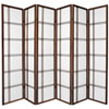 This item: Double Cross Shoji Screen - Six Panel Walnut , Width - 102 Inches