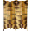 This item: Six Ft. Tall Two Tone Natural Fiber Room Divider Four Panel, Width - 17.75 Inches