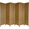 This item: Six Ft. Tall Two Tone Natural Fiber Room Divider Six Panel, Width - 17.75 Inches