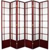 This item: 7-Foot Tall Double Cross Shoji Screen - Rosewood - 6 Panels