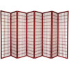 This item: Window Pane Shoji Screen - Eight Panel Rosewood, Width - 136 Inches
