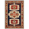 This item: Lilihan Blue Red Rectangular: 6 Ft. 7 In. x 9 Ft. 6 In. Rug