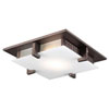 This item: Polipo Oil Rubbed Bronze 16-Inch Two-Light Flush Mount