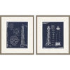 This item: Libby Langdon Lighthouse I Blue Framed Wall Art, Set of 2