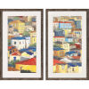 This item: Primary Rooftops Multicolor Framed Wall Art, Set of 2
