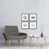 This item: Serene I Blue Framed Wall Art, Set of 4