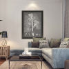 This item: Black and White Leaves II Framed Art