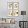 This item: Lacy Leaves Neutral Framed Art, Set of Four