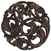 This item: Aged Copper Leaf Swirl Wall Sculpture