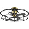 This item: Loring Black 33-Inch Ceiling Fan with Open Cage Frame