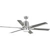 This item: Arlo Brushed Nickel 60-Inch LED Ceiling Fan with White Opal Shade