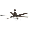 This item: Arlo Architectural Bronze 60-Inch LED Ceiling Fan with White Opal Shade