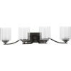 This item: Kene Graphite 31-Inch Four-Light Bath Vanity with Clear Shade