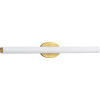 This item: Parallel Satin Brass 32-Inch LED Bath Vanity with Etched White Shade